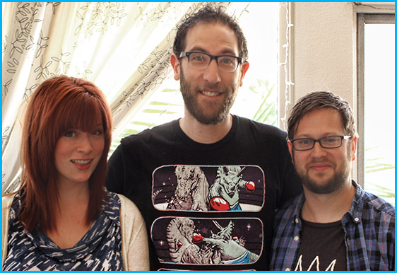 Ari Shaffir with hosts Vanessa Ragland and Cole Stratton