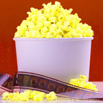 popcorn and movie