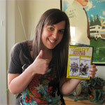 Kristen, winner of the Police Academy 2 & 3 DVD signed by BOBCAT GOLDTHWAIT!