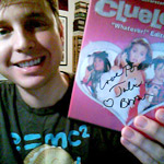 Nephi, winner of Clueless, signed DVD by Julie Brown!