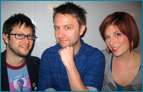 Chris Hardwick Cole Stratton and Vanessa Ragland