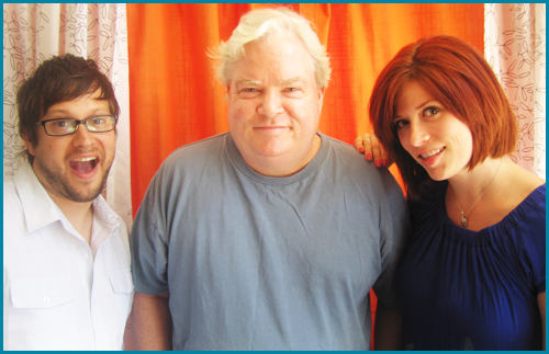 Frank Conniff and hosts cole stratton and vanessa ragland - Pop My Culture