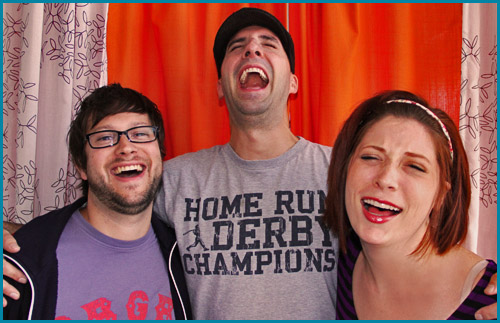 Guest Tony Hale and hosts Cole Stratton and Vanessa Ragland