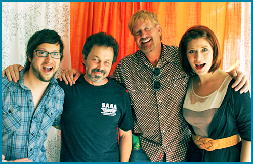 Savage Steve Holland and Curtis Armstrong guests on Pop My Culture - interviewed by hosts Vanessa Ragland and Cole Stratton