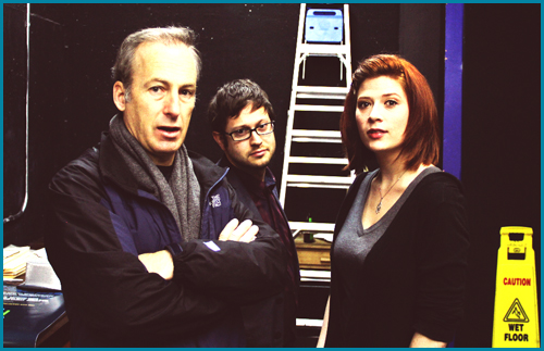 Bob Odenkirk with hosts Cole Stratton and Vanessa Ragland