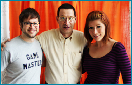 Eddie Deezen with hosts Cole Stratton and Vanessa Ragland