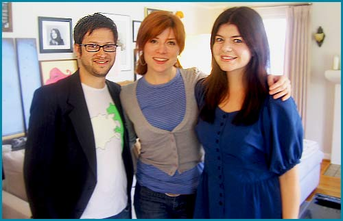 Casey Rose Wilson and hosts Cole Stratton and Vanessa Ragland