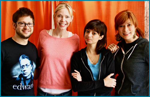 Garfunkel & Oates with hosts Cole Stratton and Vanessa Ragland