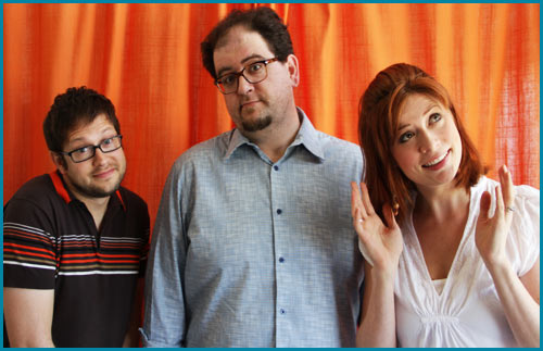 J. Elvis Weinstein and hosts cole stratton and vanessa ragland