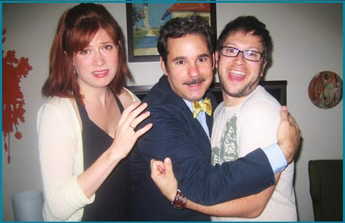 Paul F. Tompkins and hosts Vanessa Ragland and Cole Stratton