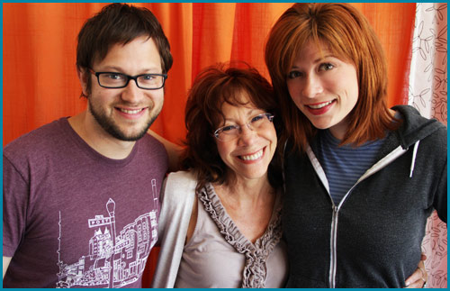 Mindy Sterling and hosts Cole Stratton and Vanessa Ragland