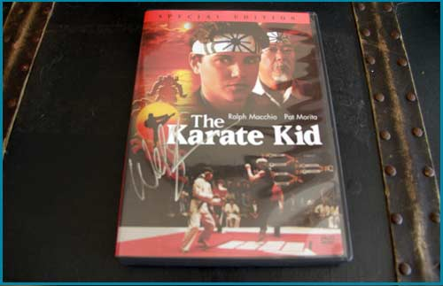 Karate Kid DVD signed by William Zabka