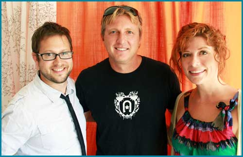 William Zabka with hosts Cole Stratton and Vanessa Ragland
