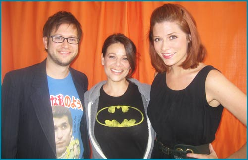 Meredith Salenger with Cole Stratton and Vanessa Ragland as guest on Pop My Culture Podcast
