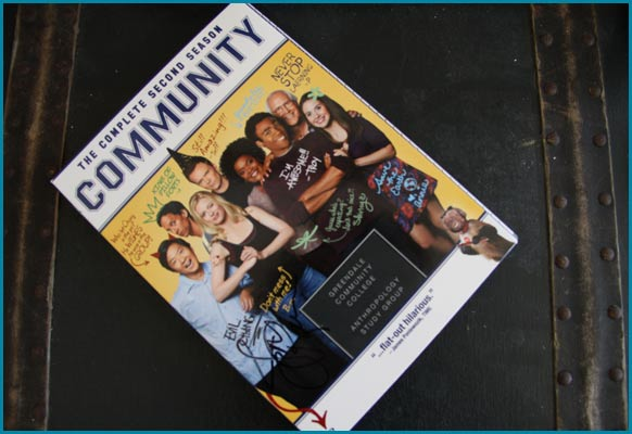 Jim Rash signed DVD of Community