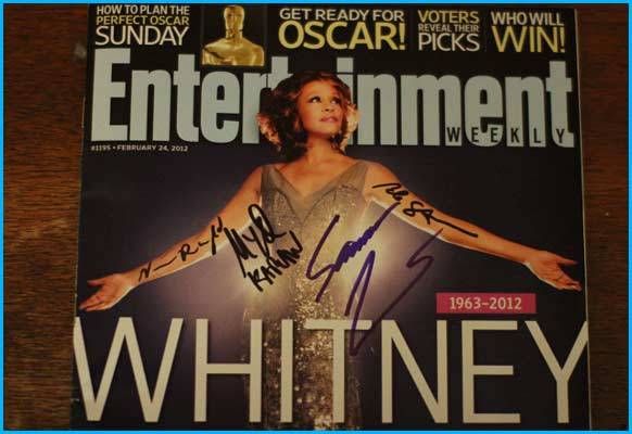 Whitney Houston issue of entertainment weekly signed