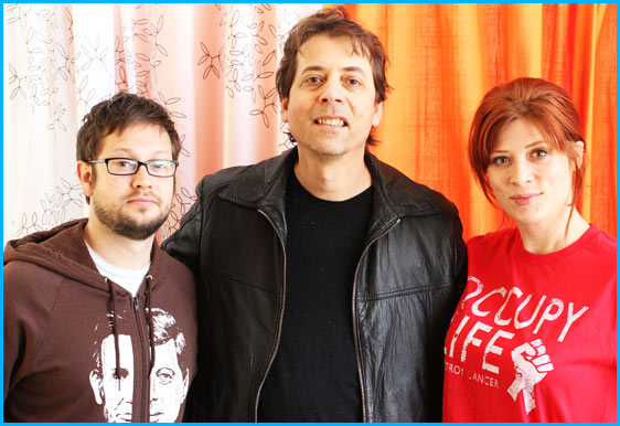 Fred Stoller with hosts Cole Stratton and Vanessa Ragland