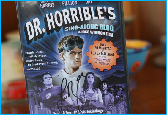 Dr. Horrible's sing-along blog signed by Felicia Day