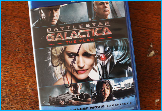 Battlestar Galactica signed blu ray by writer Jane Espenson