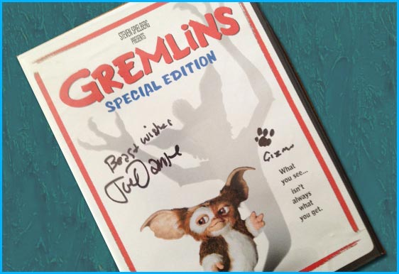 Signed Gremlins DVD giveaway - Director Joe Dante