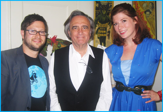 Joe Dante with hosts Cole Stratton and Vanessa Ragland