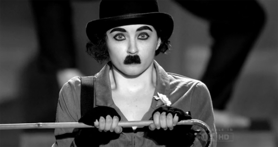 f95e1ae5e19 Our androgynous and possibly anti-Semitic Top 16 opened the show with some  inspiration from Charlie Chaplin