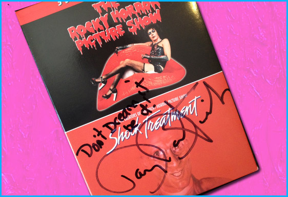 Signed Rocky Horror Picture Show dvd for give away