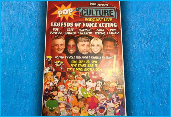 Signed Riot poster - voice over artists