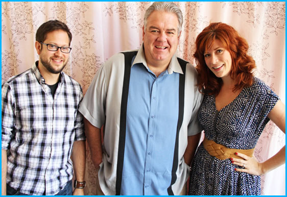 Jim O'Heir with hosts Vanessa Ragland and Cole Stratton