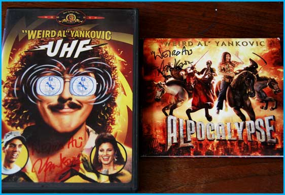 """Weird Al"" Yankovic giveaways UHF and AlPocalypse signed"