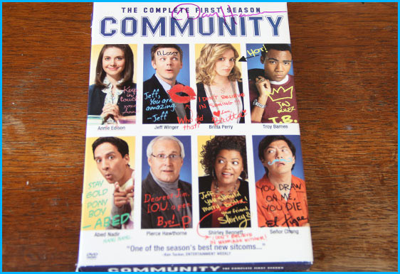 Dan Harmon signed Community DVD
