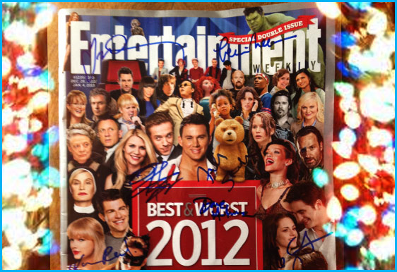 Entertainment Magazine  Best / Worst of 2012 signed by everyone