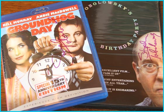 Groundhog Day and Stephen Tobolowsky's Birthday Party signed DVDs
