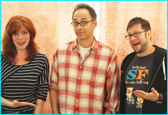 David Wain with hosts Vanessa Ragland and Cole Stratton