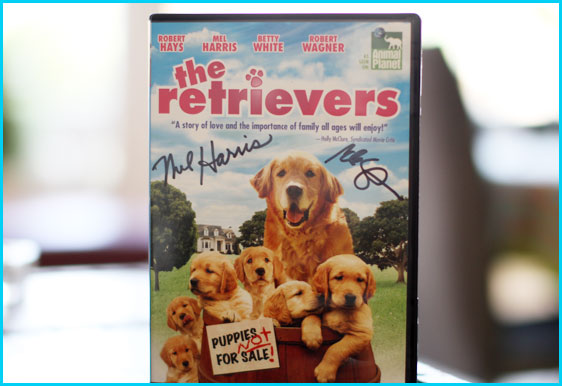 The Retrievers DVD signed by Mel Harris and Cole Stratton