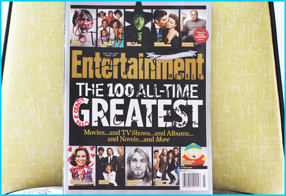 Entertainment Weekly signed by Mike Lawrence, Cole Stratton and Vanessa Ragland