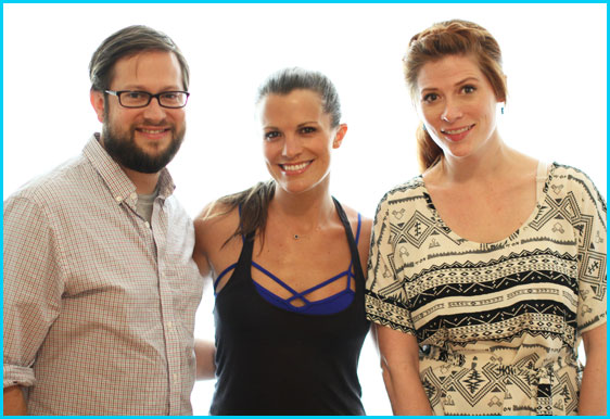 Melissa Claire Egan with hosts Cole Stratton and Vanessa Ragland