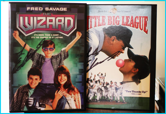 Luke Edwards signed Little Big League DVD and The Wizard DVD