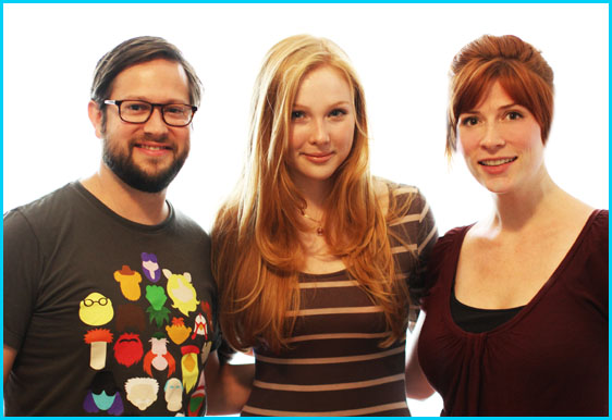 Molly Quinn with hosts Cole