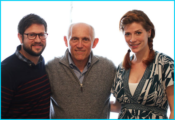 Armin Shimerman with hosts Cole Stratton and Vanessa Ragland