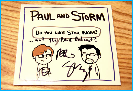 Paul and Storm signed CD