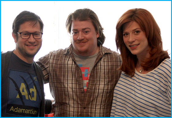 Danny Tamberelli with hosts Cole Stratton and Vanessa Ragland