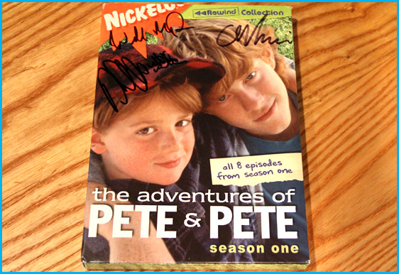 The Adventures of Pete & Pete season one signed by Danny Tamberelli and show creators Will McRobb and Chris Viscardi