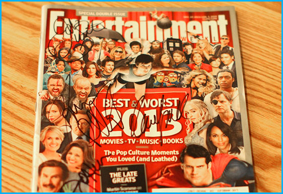 Entertainment Weekly signed by Jodie Sweetin, Jim O'Heir, Kevin Pollak, and Dana Gould