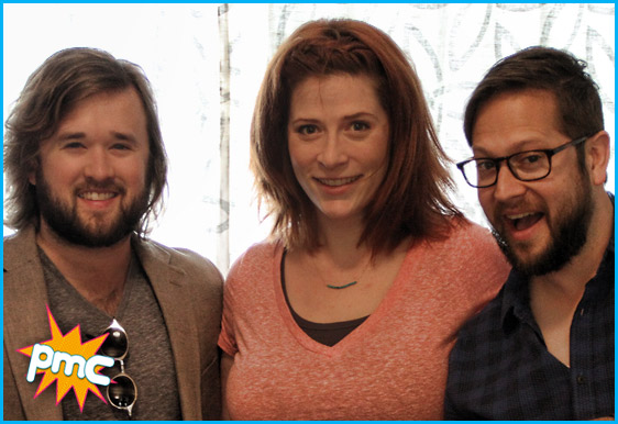 Haley Joel Osment with hosts Vanessa Ragland and Cole Stratton