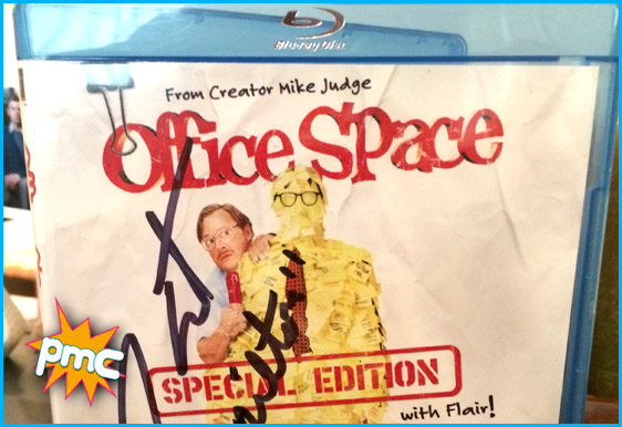 Office Space signed blu ray by Stephen Root (Milton)