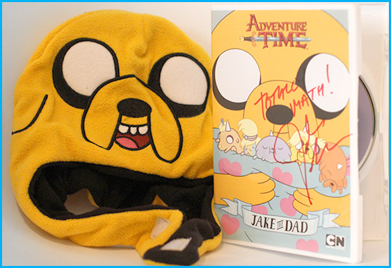John DiMaggio signed Adventure time dvd with hat