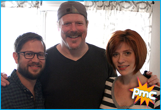 John DiMaggio with hosts Cole Stratton and Vanessa Ragland