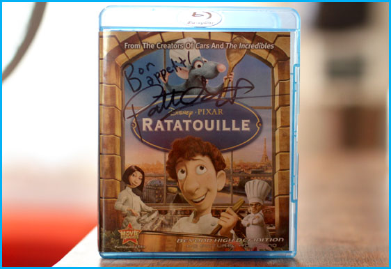 Patton Oswalt signed copy of Ratatouille
