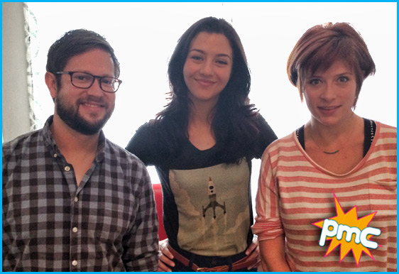 Katie Findlay with hosts Cole Stratton and Vanessa Ragland